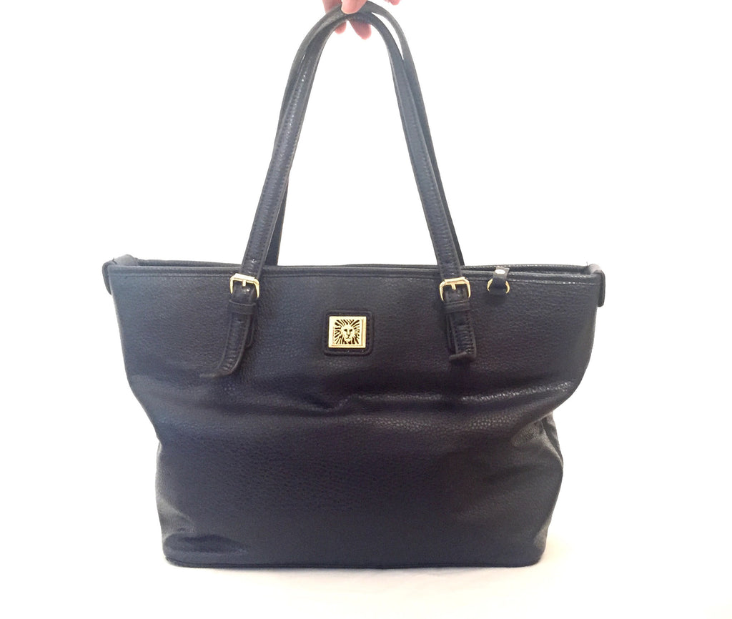 Anne Klein Navy Tote Bag | Gently Used | - Secret Stash