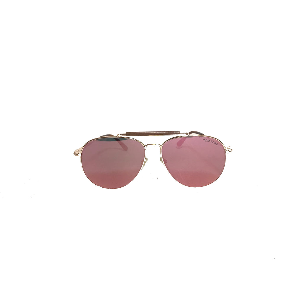 Tom Ford Sean TF536 Rose Gold Aviator Unisex Sunglasses | Like New |