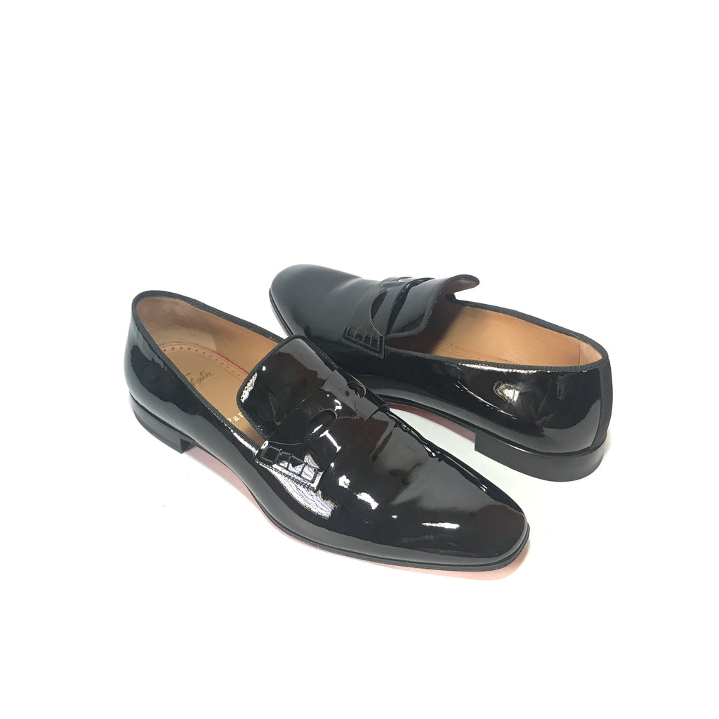 Christian Louboutin Men's 'Magicien' Black Patent Leather Loafers