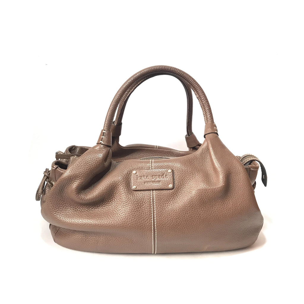 Kate Spade Brown Pebbled Leather Tote