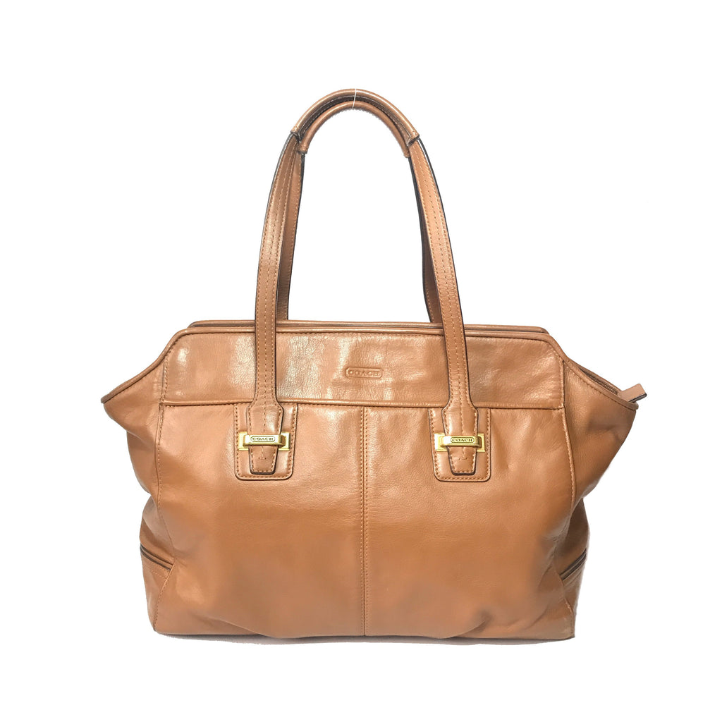 Coach Tan Leather Shoulder Bag