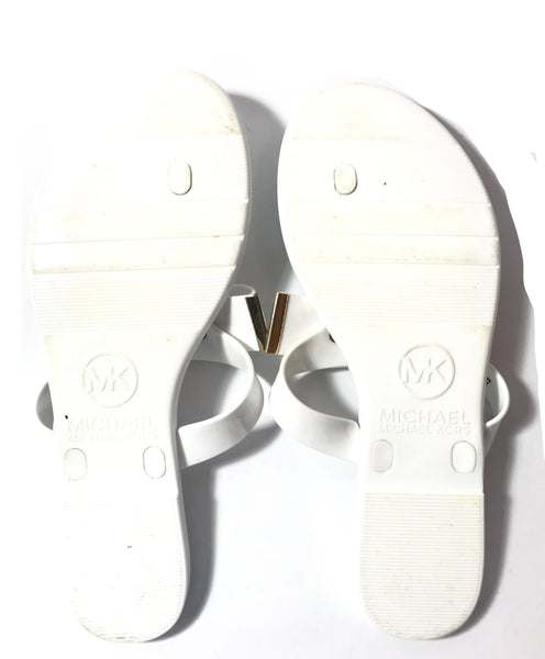 Michael Kors 'Kayden' White Jelly Sandals | Gently Used |