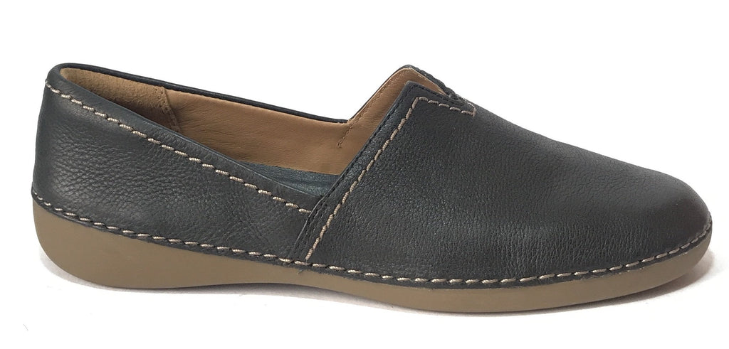 Clarks Black Leather Loafers