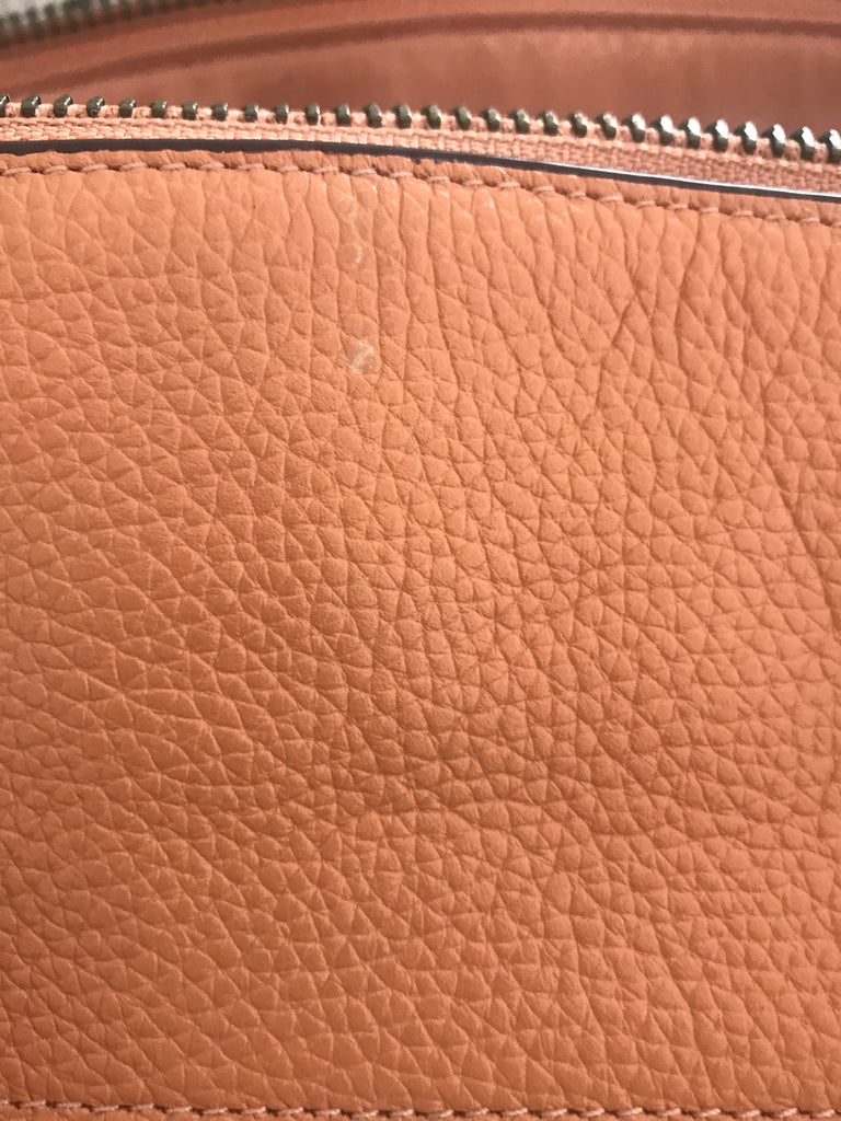 Coach Peach Pebbled Leather Satchel | Gently Used |