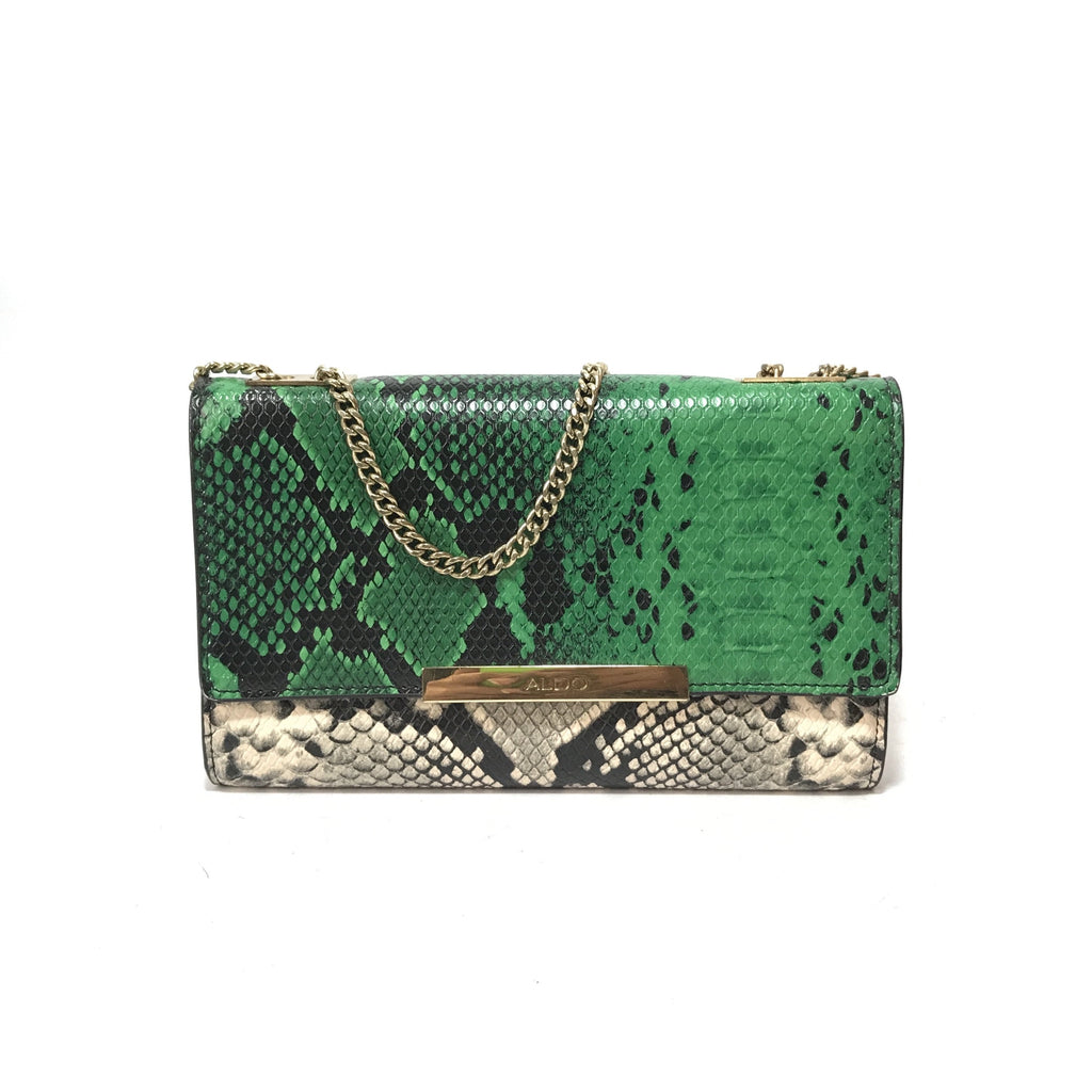 ALDO Tri Colour Snakeskin Print Cross Body Bag