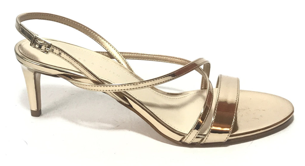 Charles & Keith Gold Kitten Heels