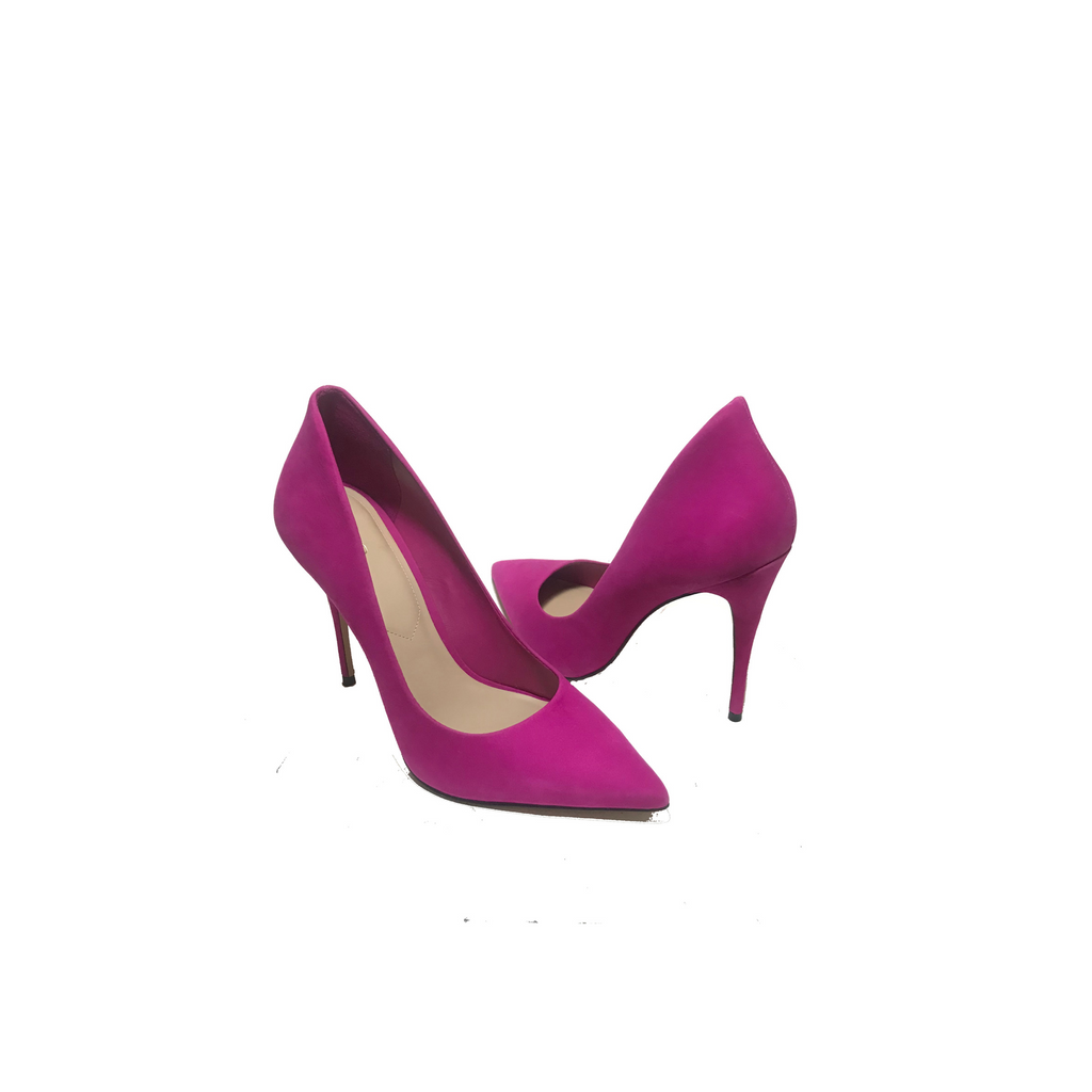 Aldo Suede Fuchsia Suede 'Cassedy' Pointed Pumps | Gently Used |