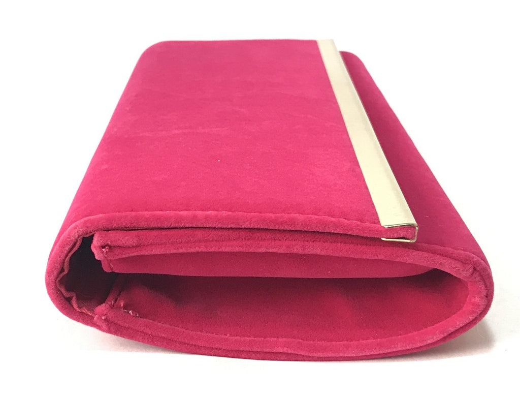 Accessorize Fuchsia Suede Clutch