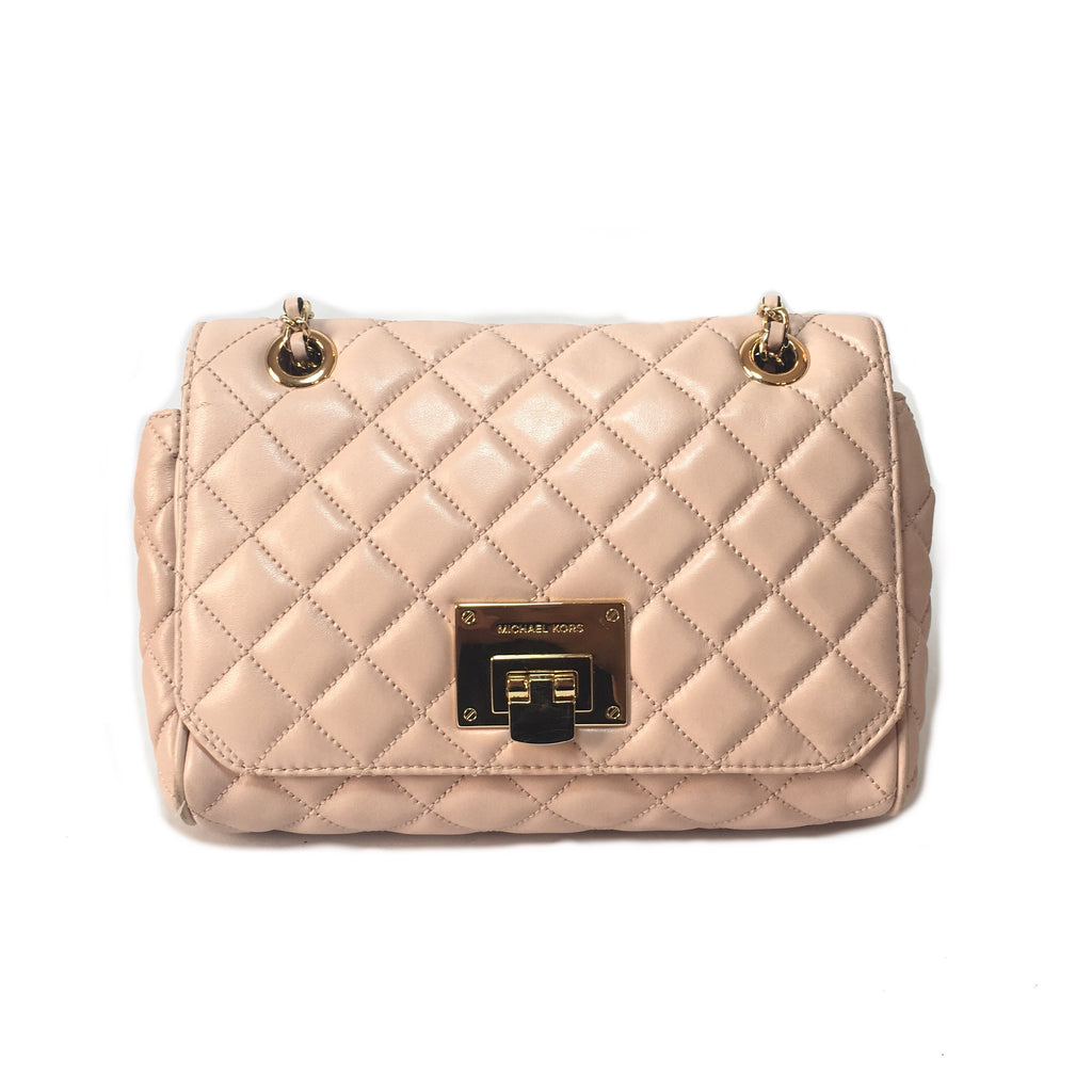 Michael Kors 'Viviane' Quilted Light Pink Leather Bag | Pre Loved |