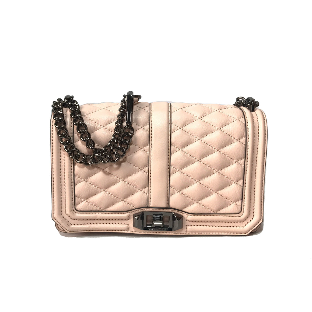 Rebecca Minkoff Quilted Pink Cross Body Bag
