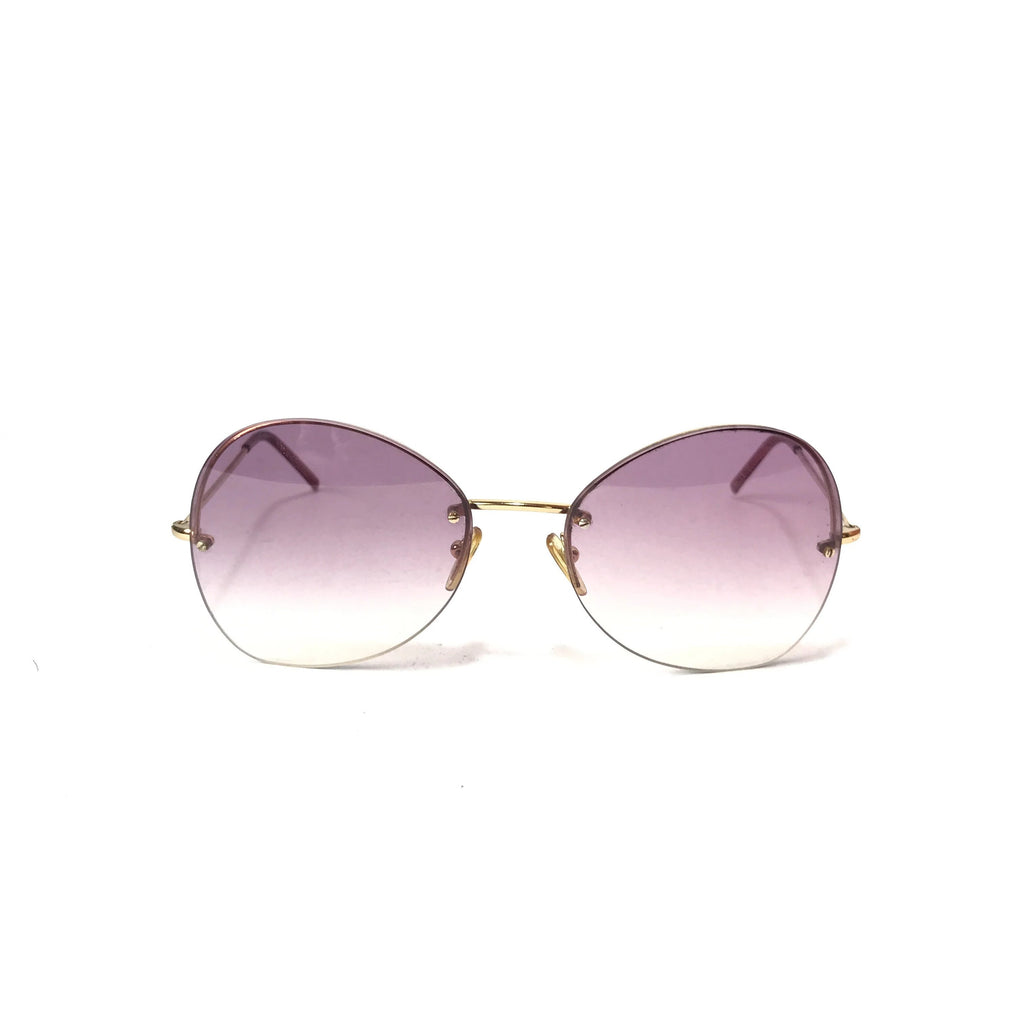 Gucci Pink Rimless Sunglasses