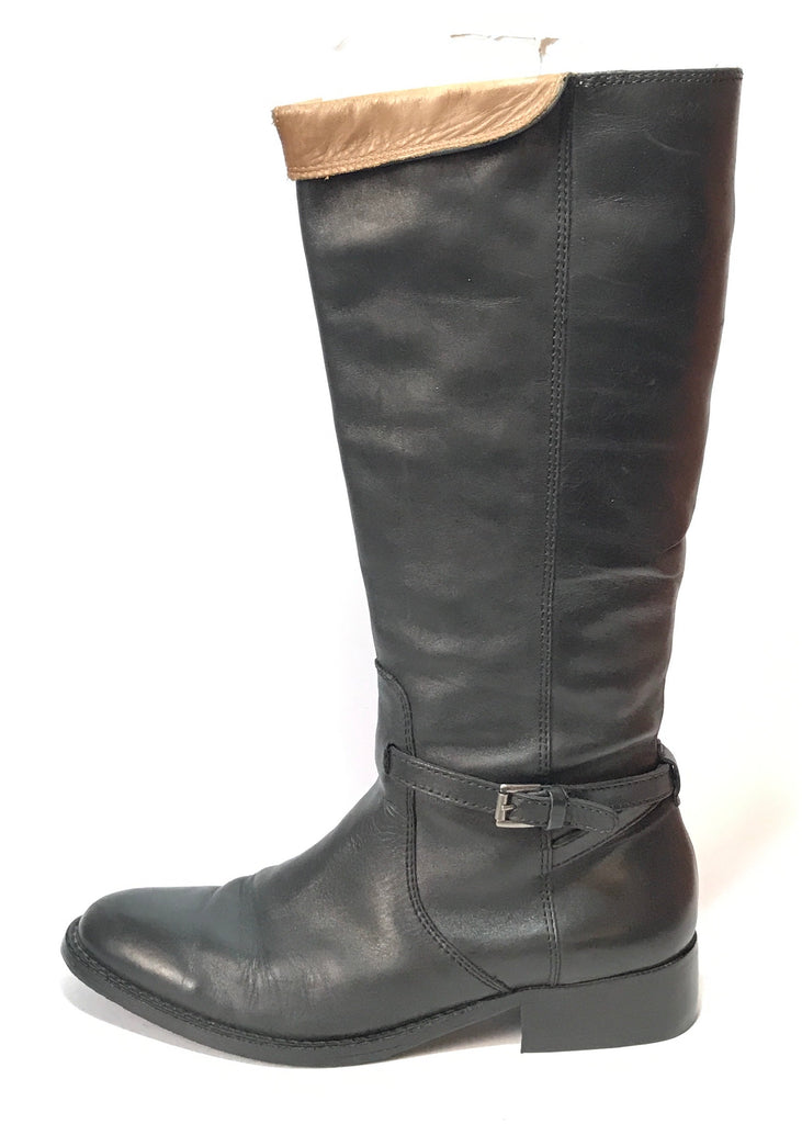 Massimo Dutti Black Leather Boots