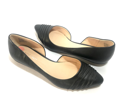 Nine West Black Point Leather Flats | Gently Used |