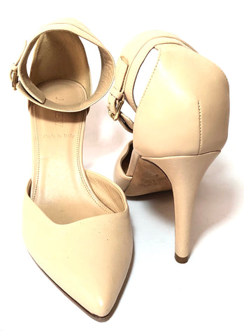 J.Crew Beige Leather D'ORSAY Pumps | Pre Loved |