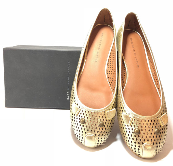 Marc by Marc Jacobs Champagne 'Mouse' Ballet Flats | Like New |