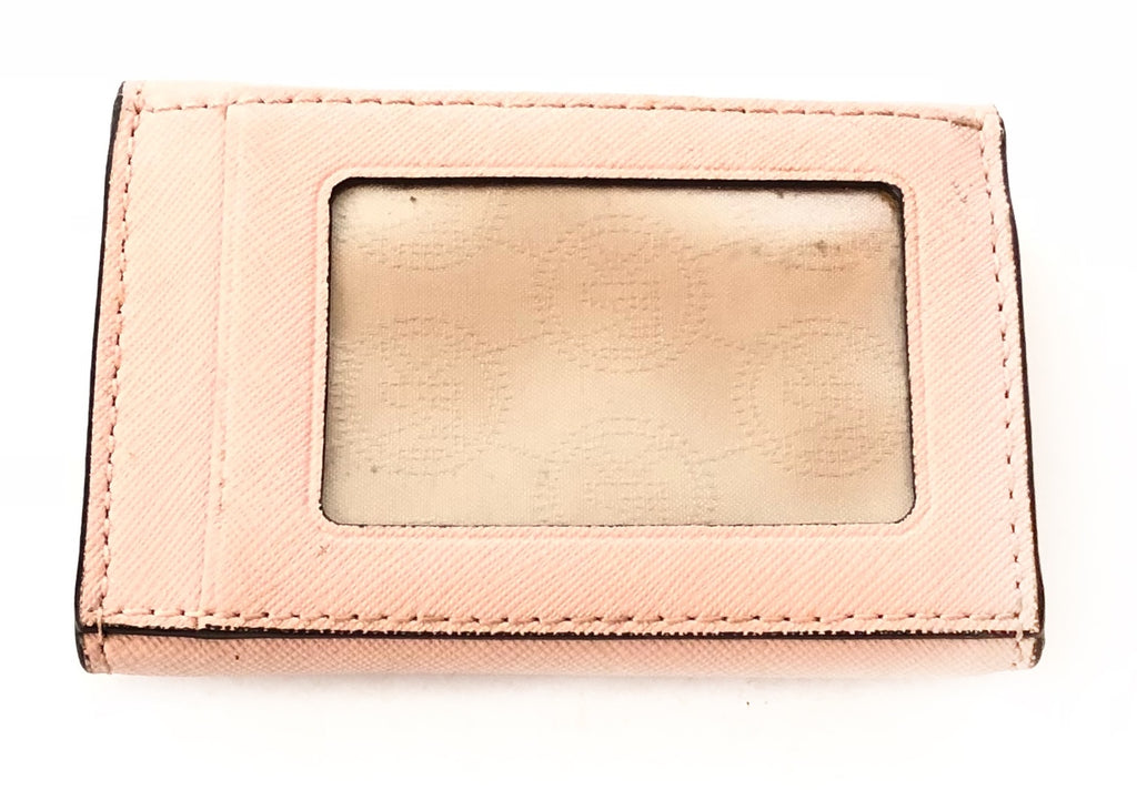 Michael Kors Salmon Pink Leather Key Fob Small Wallet | Gently Used |