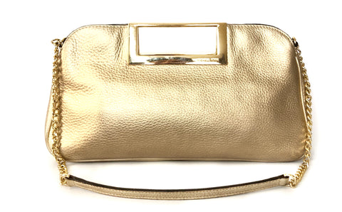 Michael Kors Gold Leather Shoulder Bag | Gently Used |