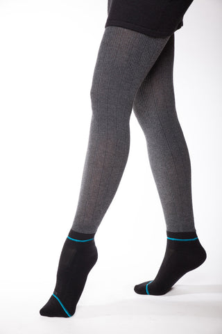 Cascade  Heavy Rib Sweater Tight Heather Grey