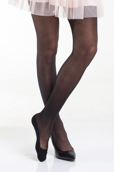 Core Semi-sheer Tights with Invisi-liner™ foot bottom Black