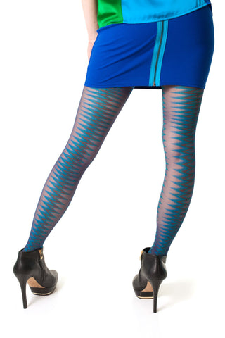Fusion Zig Zag Bootights in Ink with Attached Ankle Sock Size A