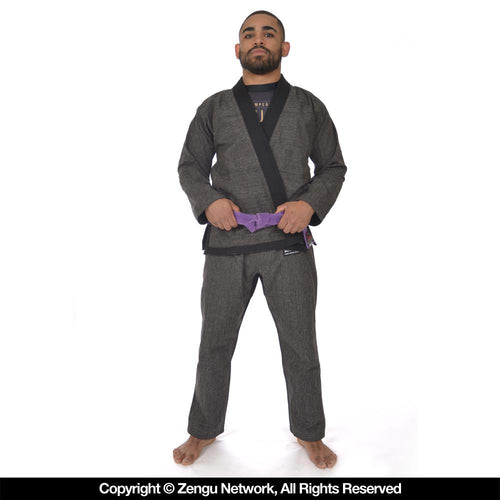 """Gotham Static"" Heather Grey Jiu Jitsu Gi By 93 Brand"