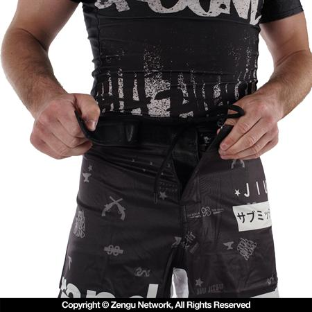 "93 Brand ""Splatter"" Shorter Cut Shorts"