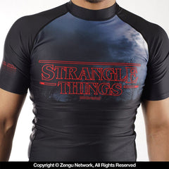 93Brand Mens STRANGLE THINGS Rashguard