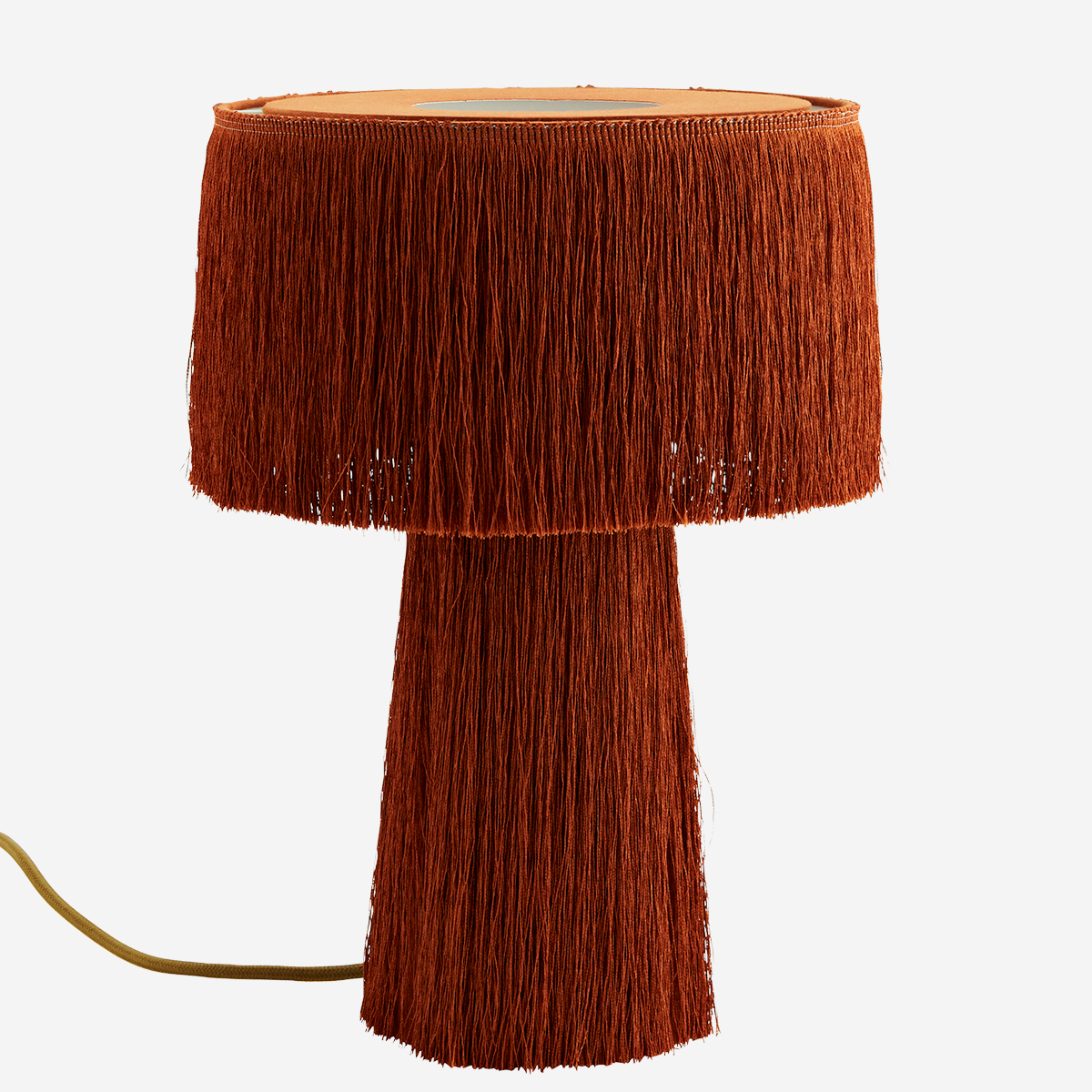 Table Lamp with Tassels Burned Orange - Madam Stoltz