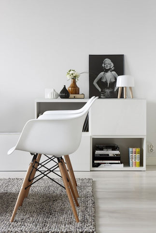 ... Charles Ray Eames Style DAW Arm Chair   White ...