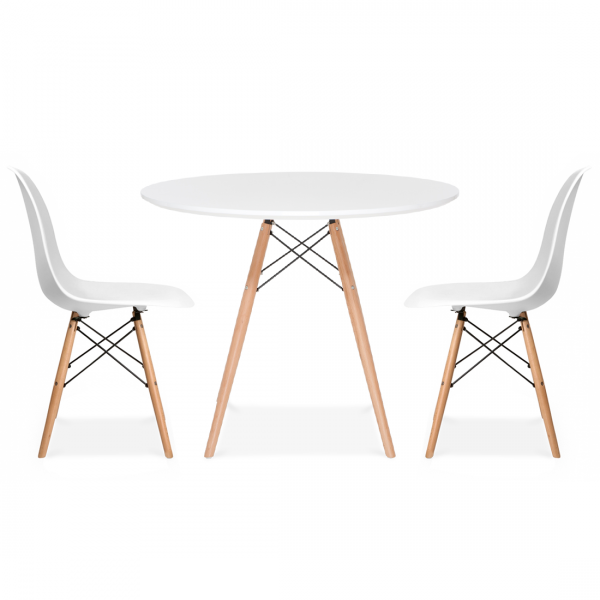 WDW White Dining Table 80cm - Inspired By Designs of Charles & Ray Eames