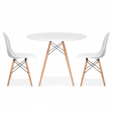 WDW White Dining Table 90cm - Inspired By Designs of Charles & Ray Eames