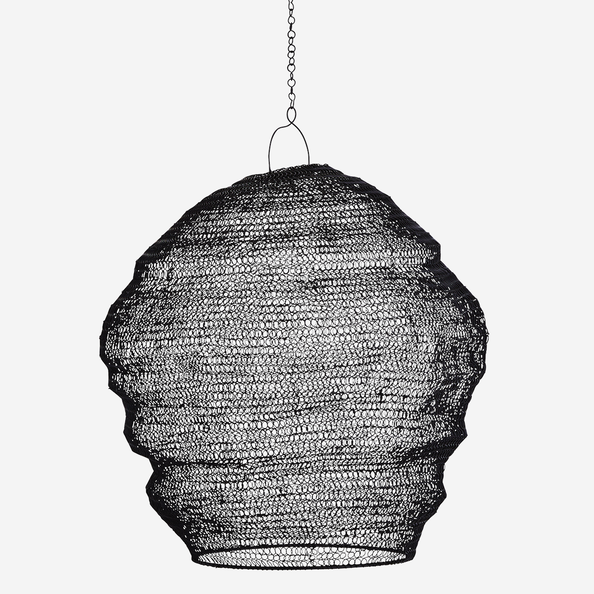 Knitted Wire Lamp Shade Black - Madam Stoltz
