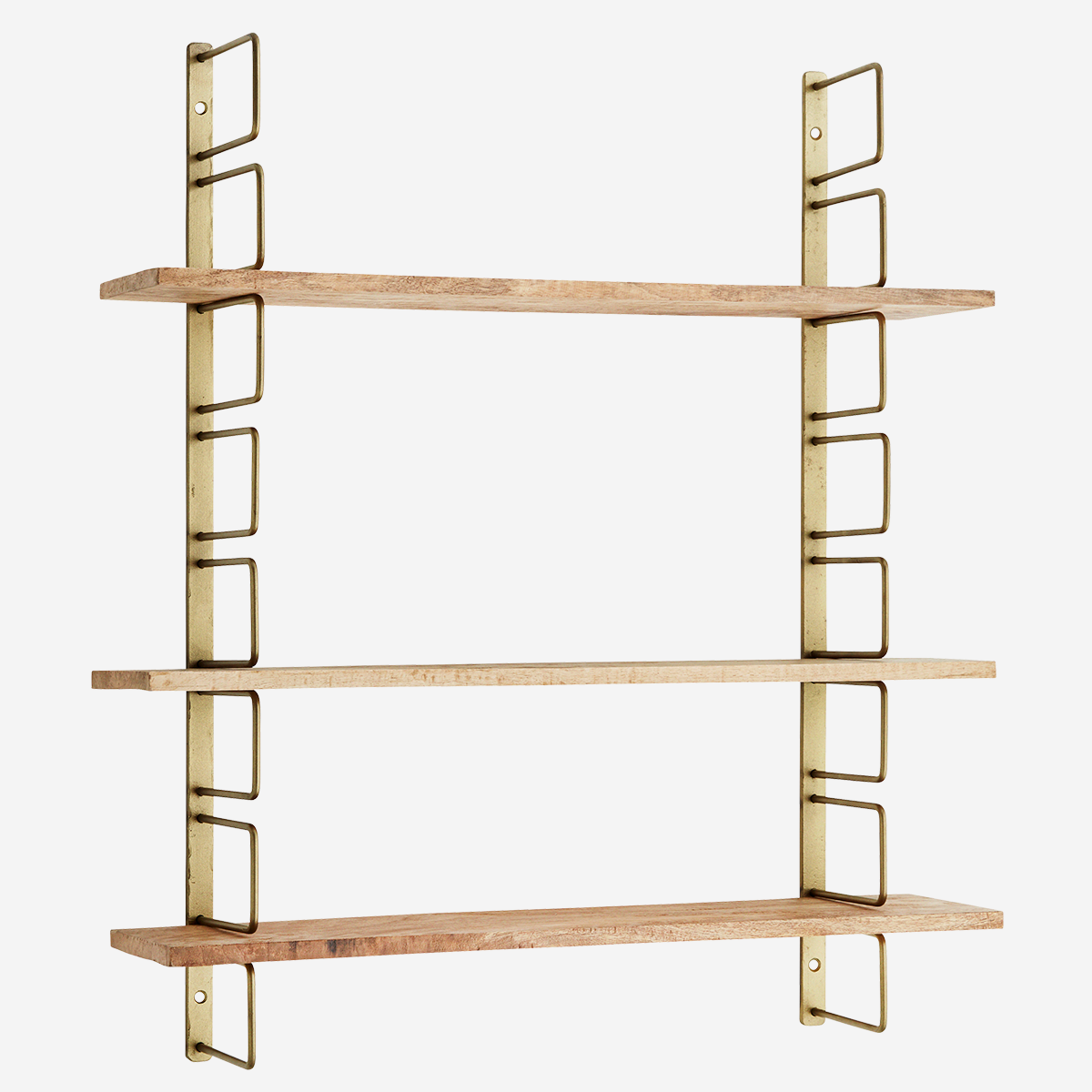Wall Rack With Wooden Shelves