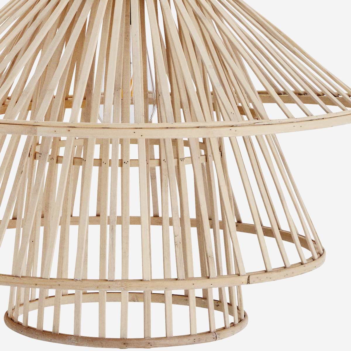 Bamboo Tiered Ceiling Lamp - Madam Stoltz