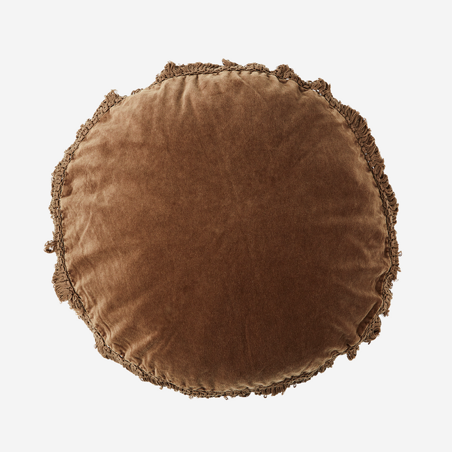 Round Cushion With Fringes