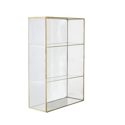 Lia Cabinet Gold Glass - Bloomingville
