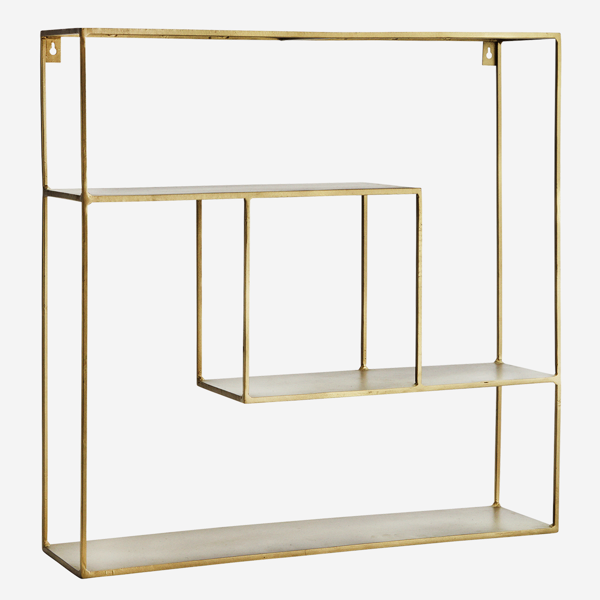 Quadratic Iron Shelf 61x15x61 cm. - Madam Stoltz