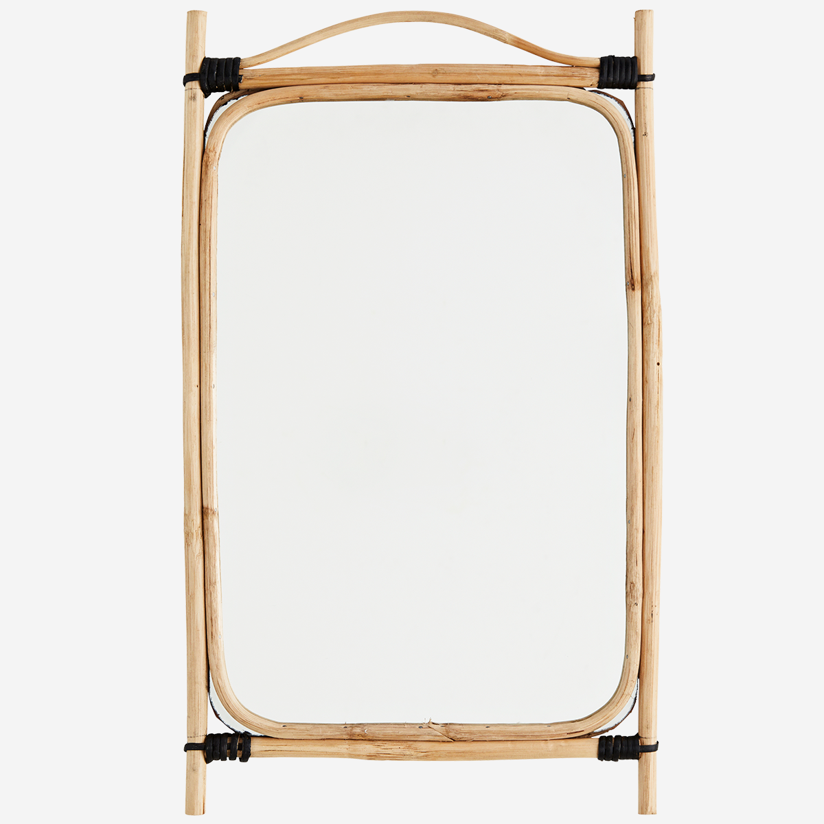 Rectangular Mirror With Bamboo Frame 34x56 cm - Madam Stoltz