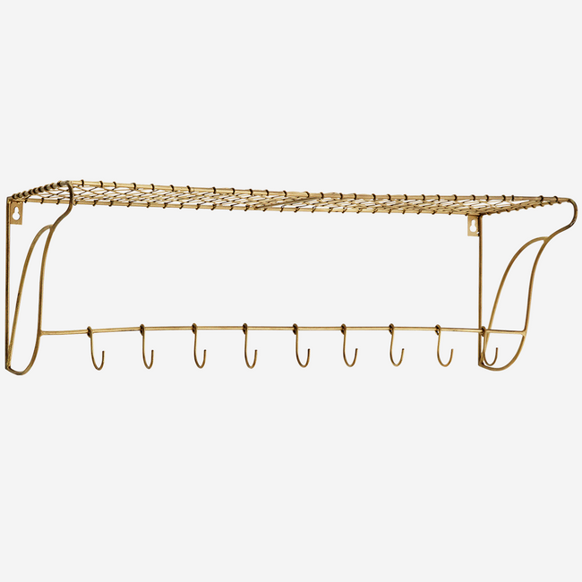 Shelf With Hooks 76x26,5x24 cm. - Madam Stoltz
