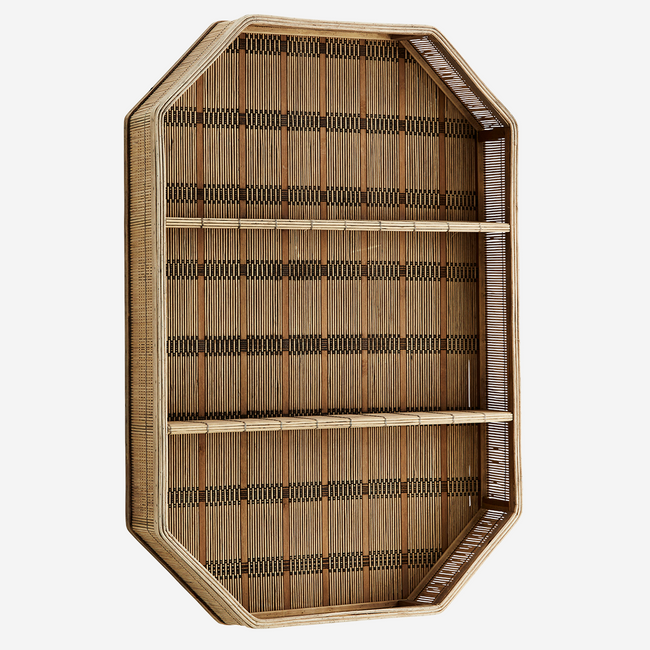 Rectangular Bamboo Shelf 55x10.5x80 cm