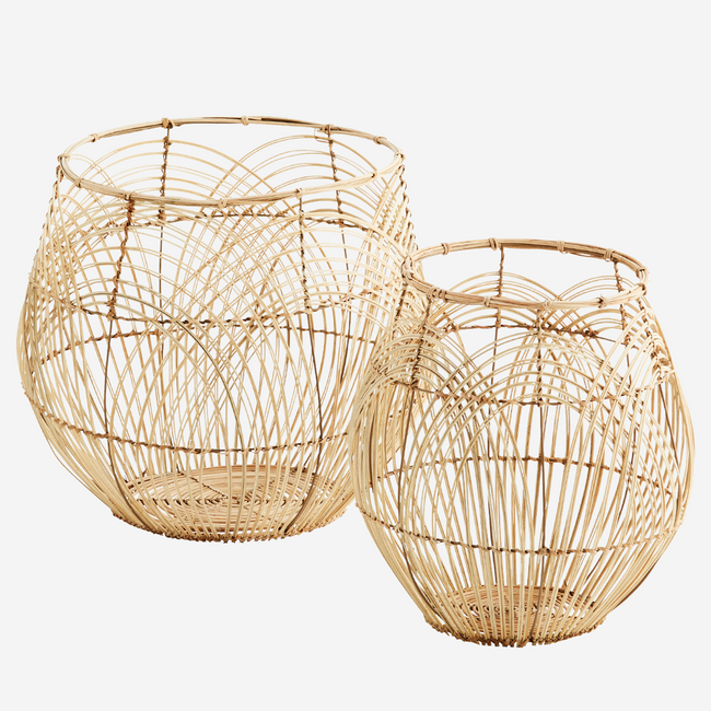 Round Rattan Baskets Natural