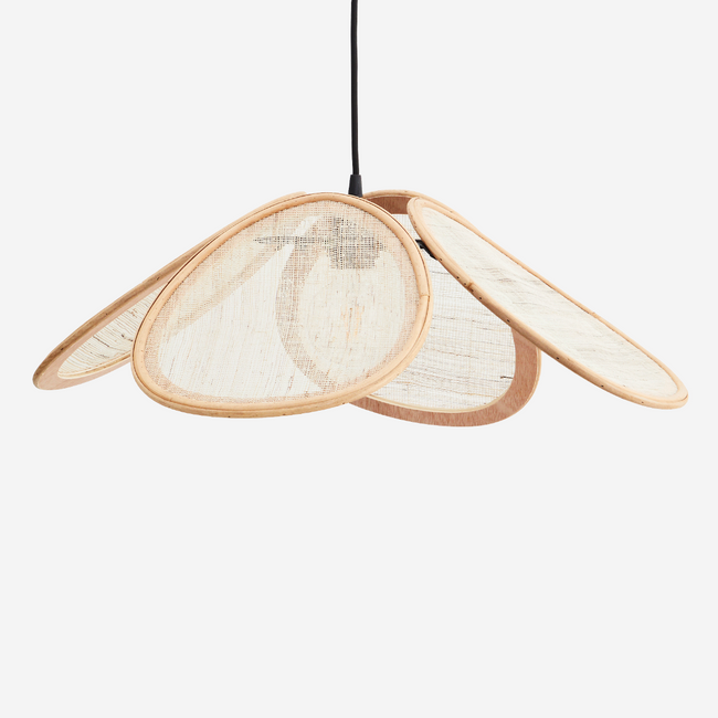 Rattan Ceiling Lamp With Linen