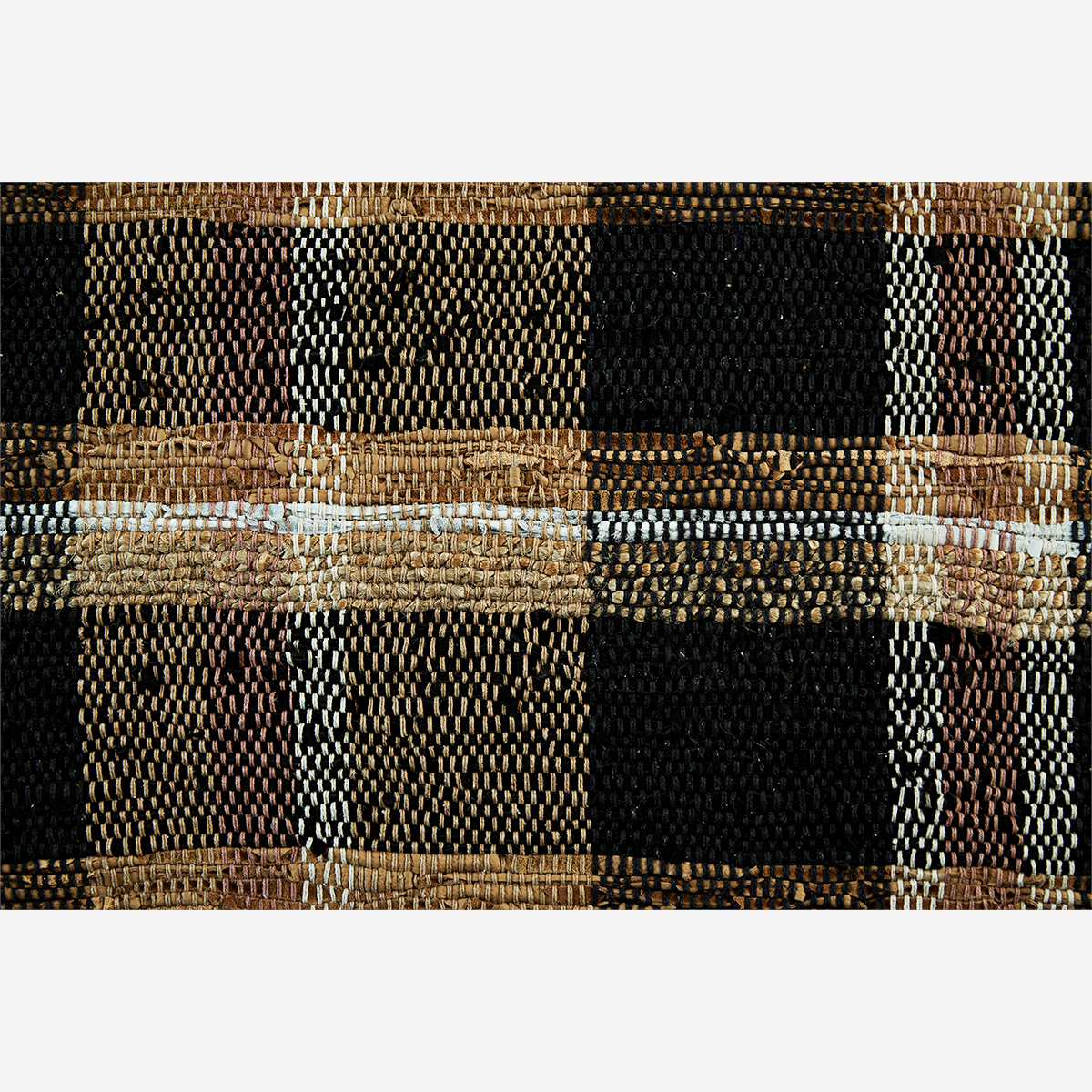 Checked leather Rug- Madam Stoltz