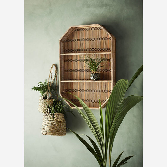 Rectangular Bamboo Shelf 55x10.5x80 cm. - Madam Stoltz