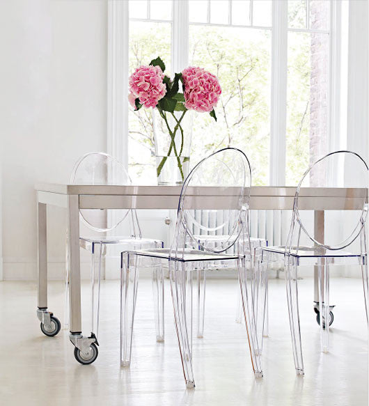 Philippe Starck Style Ghost Victoria Side Chair - Clear