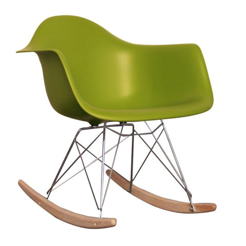 Charles Ray Eames Style RAR Rocking Chair - Green u2013 S.ALTERNATIVE FURNITURE  sc 1 st  s.alternative furniture & Charles Ray Eames Style RAR Rocking Chair - Green u2013 S.ALTERNATIVE ...