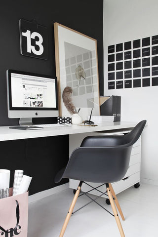 ... Charles Ray Eames Style DAW Arm Chair   Black