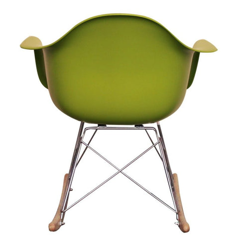 eames rocking chair green. black friday deal / charles ray eames style rar rocking chair - green i