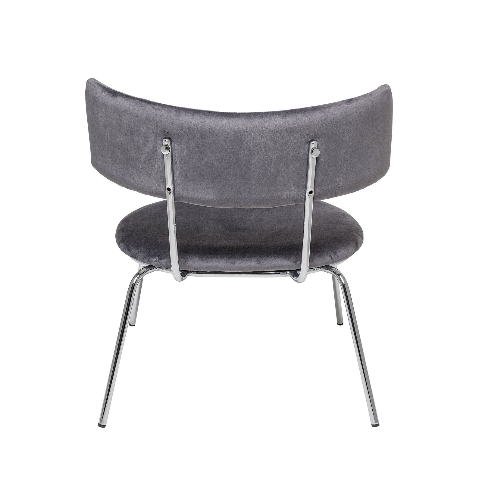 Wave Lounge Chair Grey Polyester - Bloomingville