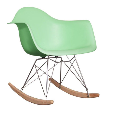 Charles Ray Eames Style RAR Rocking Chair - Peppermint